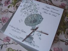 Handmade Personalised 70th Platinum Wedding Anniversary Card