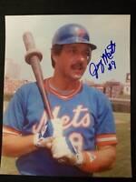 Jerry Martin Signed Vintage NY Mets 8x10 Photo JSA 15B