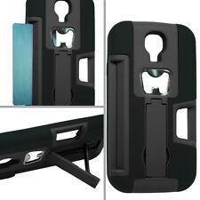 For Samsung Galaxy S4 S IV KICKSTAND Case Bottle Opener Card Holder Black