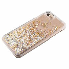 For iPhone 7 & 7+ Plus - HARD PC Diamond Confetti Flowing Liquid Waterfall Case