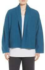 Eileen Fisher Nile Boiled Merino Wool Kimono Jacket Size Large