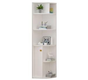 Modern Corner Bookshelf Cupboard Display Cabinet Bookcase Shelving Unit Storage