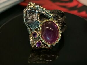 Large Cabouchon Ruby Designer Hanna May Ring Ref 21220