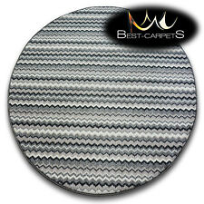 CHEAP RUGS ROUND ZIGZAG GREY HIGH QUALITY soft and nice in touch 5 SIZE