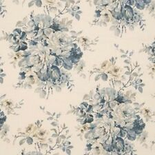 iLiv Swatch Box Fabric Curtain Blind Bouquet Blue Cream Reduced Sale Offer