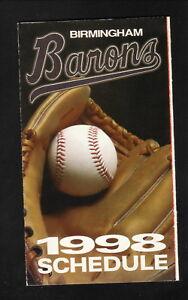 Birmingham Barons--1998 Pocket Schedule--BP--White Sox Affiliate