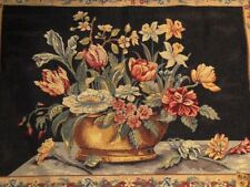 Floral Tapestry Wall Hanging Art Point des Meurins La Corbielle Halluin France