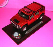 Remote Control Maisto HUMMER H2 SUV Concept Dark Red 1:18 Scale Diecast 56631