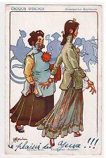 CPA Illustrateur GERVESE - SHANG HAI ETUDIANTES CHINOISES SOMALIS TIMBRES 1920