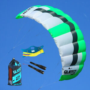 2m² Dual Line Kite Power Surfing Kite for Adults Beginner Outdoor Flying Sports