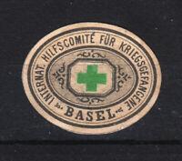 1870 Switzerland BASEL - Kriegsgefangenen Vignette  extremely rare