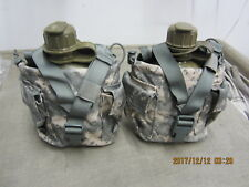 2 New Molle II Canteen / Utility Pouch ACU & 2 New Canteens