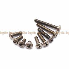 [10pcs] M5 x 8mm Phillips Cross Socket Button Head Titanium Screw Screws