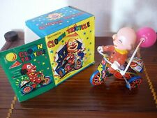 CLOWN TRICYCLE TIN TOY JOUET TOLE   VINTAGE 60/70  MTU TTBE NIB  BOITE