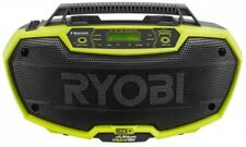 RYOBI Job Site Radio Music Hybrid Stereo Bluetooth Wireless Technology 18 Volt