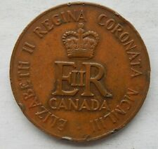 1953 Canada Queen Elizabeth II Coronation Medallion Token Coin  SB6113