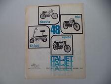 advertising Pubblicità 1970 ITALJET 48 PIRANHA/TRIAL/KIT KAT/VELOCE