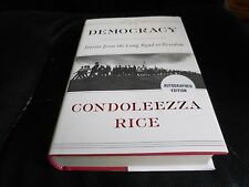CONDOLEEZZA RICE SIGNED - DEMOCRACY First Limited Hardcover Edition NEW GOP BUSH