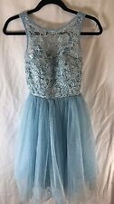 New Quiz Size 12 Blue Party Prom Embellished Dress
