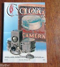 Collection Appareil  photo REVUE CYCLOPE n°35 Espion, Celtaflex, Alpa,........