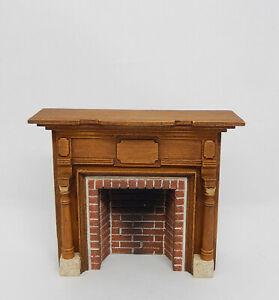 Vintage Braxton Payne Fireplace Mantle Artisan Dollhouse Miniature 1:24 1/4