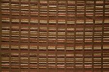 "59"" Chocolate & Brick Red Block Chenille Upholstery Sale Fabric- 10 Yards"