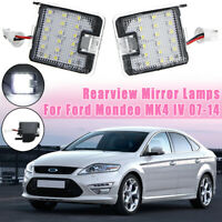 2X LED SMD Side Mirror Puddle Lights For Ford Mondeo MK4 Focus Kuga Escape C-Max