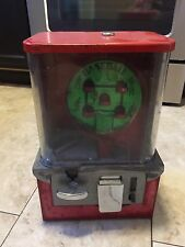 Red Baseball Gum Gumball Machine 1958 One Cent Penny Vending Machine Antique