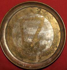 Antique folk hand made brass bowl