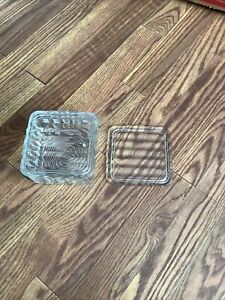 Vintage Glass Refrgerator Dish With Extra Lid