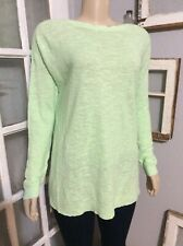 Eileen Fisher Size XL Green Boatneck Organic Linen Cotton Sweater