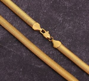 """18-24/"""" 3mm Wide Stainless Rose Gold Tone Flat Snake Chain Necklace Pendant UK"""
