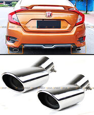 FOR 2016-17 HONDA CIVIC STAINLESS POLISHED MUFFLER EXHAUST TIP FINISHER X 2