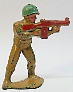 vintage Manoil M-182 TOMMY GUNNER dime store lead soldier figure