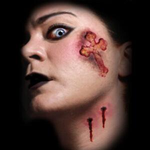Tinsley Vampire Kiss Bite Prosthetic Special FX Makeup Temporary Tattoos