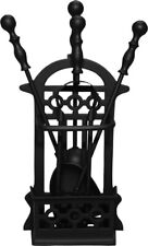 Basket Fireplace Companion Set Chimenea Accessories Fire Side Tools Hearth Tidy