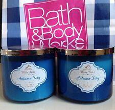 2 Bath & Body Works Autumn Day 3-wick Candles 14.5 oz each