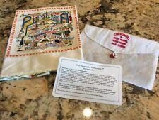 New Catstudio Pennyslvania Dish Towel Hand / Bar Geography With Bag