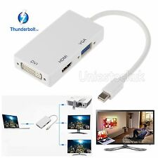 Thunderbolt 3in1 Mini Display Port DP To HDMI VGA DVI Adapter Cable Video Audio