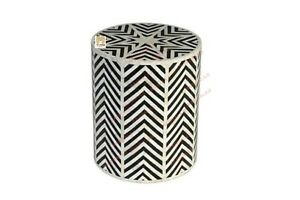 Bone Inlay Stool Home Decor Furniture Side Table lamp table night stand  Decor3