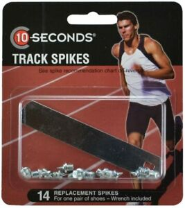 """10-Seconds 12 Replacement Track Spikes 1/4"""" Needle (6mm) with Wrench"""