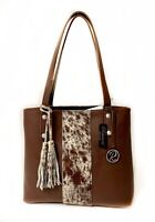 ❤️Raviani Tote Bag In Brown & Speckle Hair On Cowhide Leather Made In USA 🇱🇷