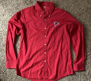 Atlanta Falcons Antigua Red Plaid Button Down Shirt LS Mens Size Large NWOT
