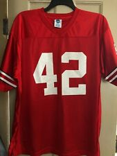 Ohio State Buckeyes Ncaa Silkscreened Red Authentic #42 Jersey Adult Large