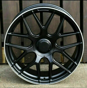 "Mercedes G Wagon x4 22"" G63 Style Alloy Wheels Black G Wagon Models 10J 5x130"
