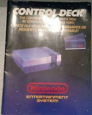 Nintendo nes control deck booklet