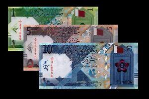 New! Qatar 2020 UNC 1 5 10 Riyals set (BM)