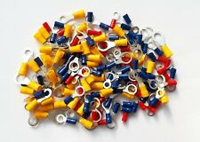 Mixed Ring Terminals RED, BLUE and YELLOW 5mm to 10mm. 150 Pk  Crimp Connectors