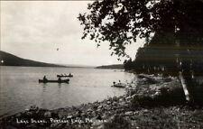 Portage Lake ME Canoe Scene Real Photo Postcard