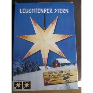 Weihnachtsstern, Leuchtstern, Außen und Innendekoration mit Außenkabel 4 m